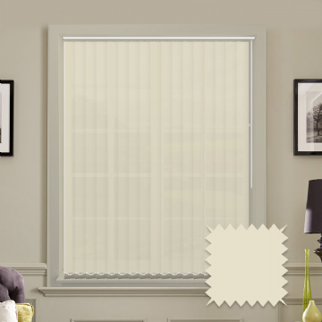 Cream Vertical Blinds | Bermuda Plain Cream Vertical Blinds